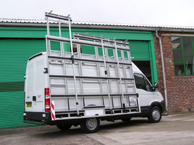 Glass Van Rack Telescopic Extension